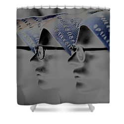 Spec Glasses  Shower Curtain by Tommytechno Sweden