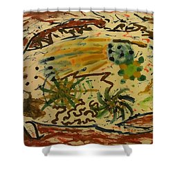 Shower Curtain featuring the painting Evolution by Thomasina Durkay