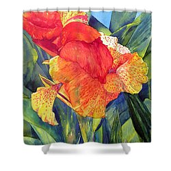 Speckled Canna Shower Curtain