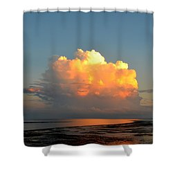 Spectacular Cloud In Sunset Sky Shower Curtain