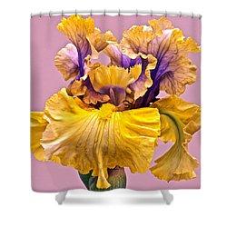 Spectacular Iris Close Up Shower Curtain