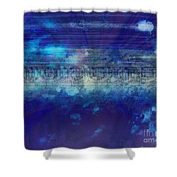 Speed Of Thought Shower Curtain by Bedros Awak