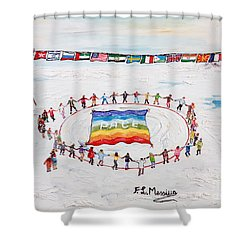 Speranza Di Pace Shower Curtain by Loredana Messina