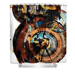 Spherical Happiness Series - 994.042212 Shower Curtain by Kris Haas