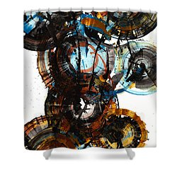Shower Curtain featuring the painting Spherical Joy Series - 995.042212 by Kris Haas