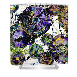 Shower Curtain featuring the painting Spherical Purple Haze - 1510.021413 by Kris Haas