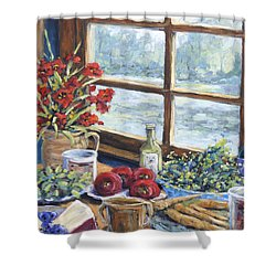Spice Table By Prankearts Shower Curtain by Richard T Pranke