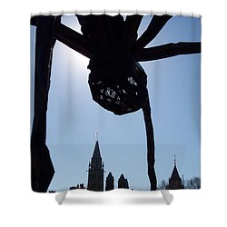 Spider Attacks Parliament Shower Curtain by First Star Art