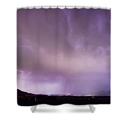Spider Lightning Above Haystack Boulder Colorado Shower Curtain by James BO  Insogna