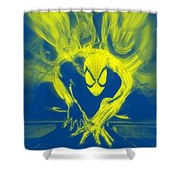 Spider-man Y B Blast Shower Curtain