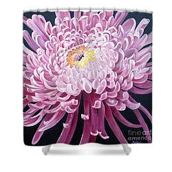Shower Curtain featuring the painting Spider Mum by Debbie Hart