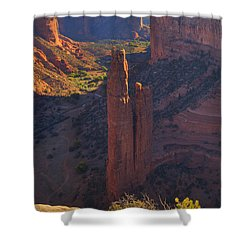 Shower Curtain featuring the photograph Spider Rock by Alan Vance Ley