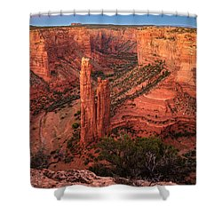 Spider Rock Sunset Shower Curtain
