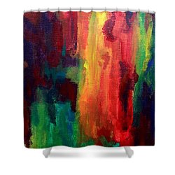 Spilling Rainbows Shower Curtain