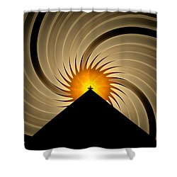 Shower Curtain featuring the digital art Spin Art by GJ Blackman