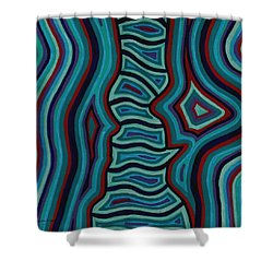 Spine Talk Shower Curtain