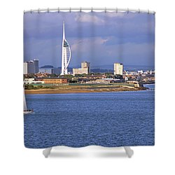 Spinnaker Tower And Gunwharf Quays Shower Curtain