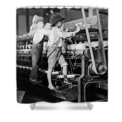 Spinning Frame Circa 1909 Shower Curtain by Aged Pixel