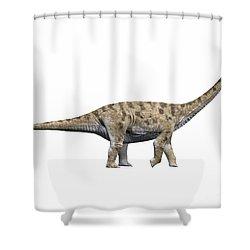 Spinophorosaurus Nigerensis, Middle Shower Curtain by Nobumichi Tamura