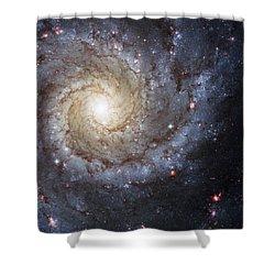 Spiral Galaxy M74 Shower Curtain by Adam Romanowicz