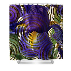 Spiral Iris Shower Curtain