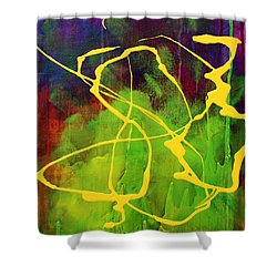 Spiral Shower Curtain by Nancy Merkle