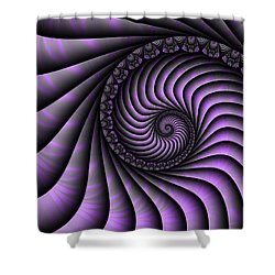 Spiral Purple And Grey Shower Curtain
