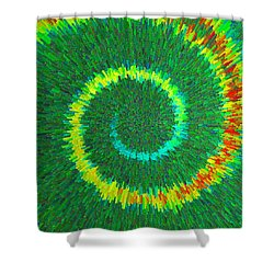 Spiral Rainbow C2014 Shower Curtain