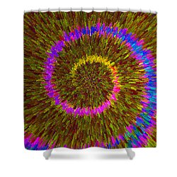 Spiral Rainbow IIi C2014 Shower Curtain