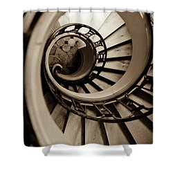 Spiral Staircase Shower Curtain by Sebastian Musial