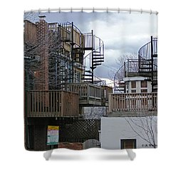 Shower Curtain featuring the photograph Spiral Stairs by Brian Wallace