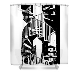 Spiral Stairs Shower Curtain