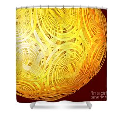 Spiral Sun By Jammer Shower Curtain by First Star Art