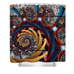 Spiraling Shower Curtain