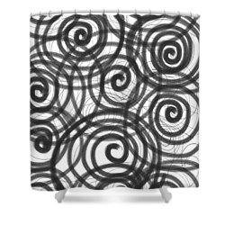 Spirals Of Love Shower Curtain by Daina White