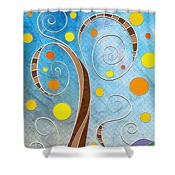 Spiralscape Shower Curtain by Shawna Rowe