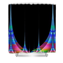 Shower Curtain featuring the digital art Spires by GJ Blackman