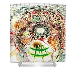 Spirit Crowd Shower Curtain by Anastasiya Malakhova