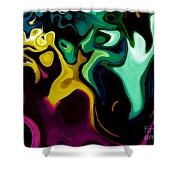 Shower Curtain featuring the digital art Spirit Dance An Abstract Modern Contemporary Digital Art by Annie Zeno