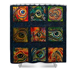 Spirit Eye Collection I Shower Curtain by Deborha Kerr