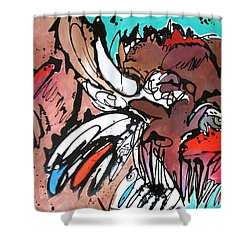 Shower Curtain featuring the painting Spirit Guide by Nicole Gaitan