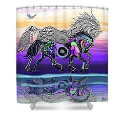 Spirit Horse Shower Curtain by Michele Avanti