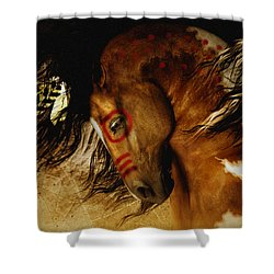 Spirit Horse Shower Curtain by Shanina Conway