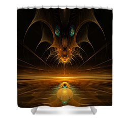 Spirit In The Sky Shower Curtain by GJ Blackman