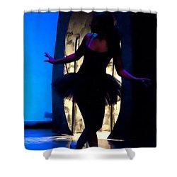 Spirit Of Dance 3 - A Backlighting Of A Ballet Dancer Shower Curtain