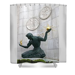Spirit Of Detroit Monument Shower Curtain