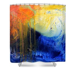 Spirit Of Life - Abstract 7 Shower Curtain by Kume Bryant