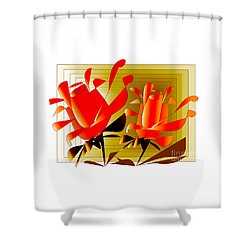 Spirit Of Roses Shower Curtain by Iris Gelbart