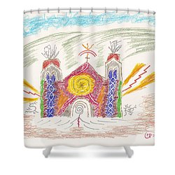 Spirit Of St Francis Shower Curtain by Mark David Gerson
