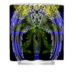 Spirit Of The Dragon Shower Curtain by Christopher Gaston